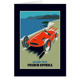 Retro style auto Grand Prix Rivièra Card