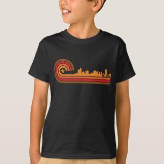 Retro Style Billings Montana Skyline T-Shirt