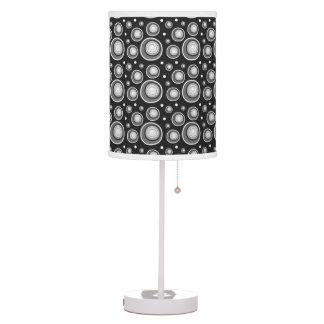 Retro Style Black White Polka Dots Table Lamp