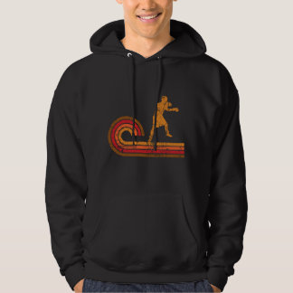 Retro Style Boxer Silhouette Boxing Hoodie