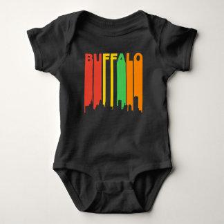 Retro Style Buffalo NY Skyline Baby Bodysuit