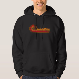 Retro Style Burlington Vermont Skyline Hoodie