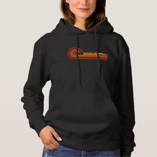 Retro Style Charleston South Carolina Skyline Hoodie