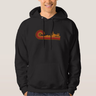 Retro Style Charlotte North Carolina Skyline Hoodie