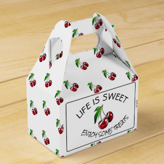 Retro Style Cherries Candy or Cupcake Box Favor Boxes