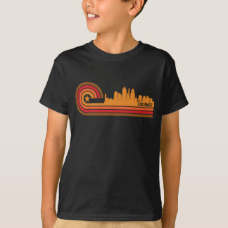 Retro Style Cincinnati Ohio Skyline T-Shirt