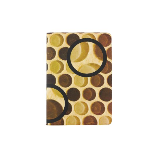 Retro style circles and dots passport cover