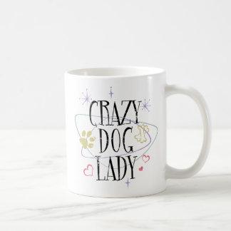 Retro Style Crazy Dog Lady Mug