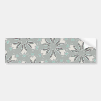 Retro Style Customizable Wedding Pattern Bumper Sticker