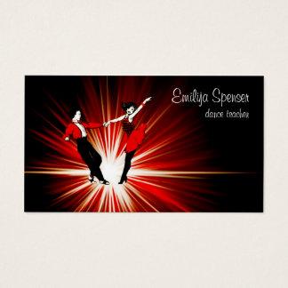 Retro Style Dance Studio Business Card