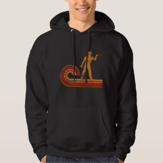 Retro Style Darts Player Silhouette Darts Hoodie