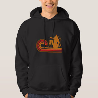 Retro Style Drummer Silhouette Music Hoodie
