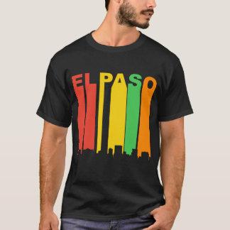 Retro Style El Paso TX Skyline T-Shirt
