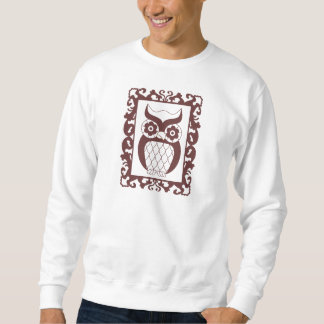 Retro Style Framed Owl Sweatshirt