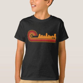 Retro Style Fresno California Skyline T-Shirt