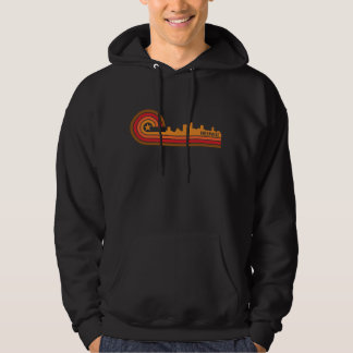 Retro Style Greenville South Carolina Skyline Hoodie