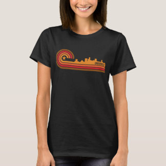 Retro Style Greenville South Carolina Skyline T-Shirt