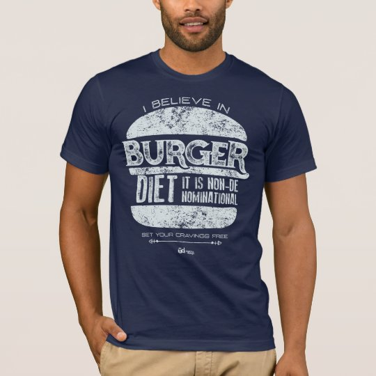 Retro Style: I Believe in Burger Diet T-Shirt