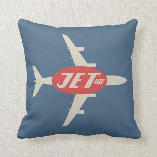 Retro Style Jet-Age Throw Pillow
