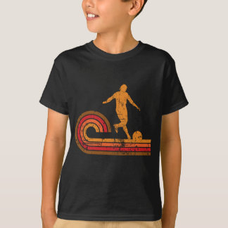 Retro Style Kickball Player Silhouette Kickball T-Shirt