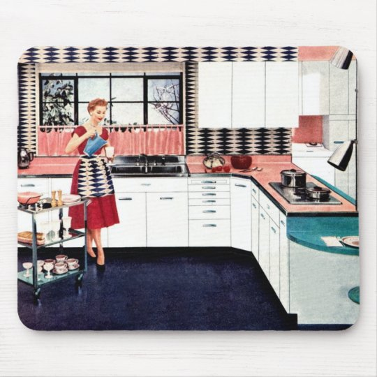 Retro Style Kitchen Mousepad