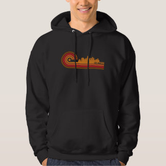 Retro Style Los Angeles California Skyline Hoodie