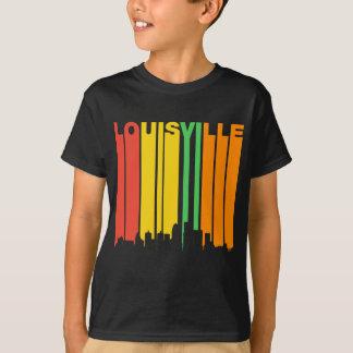 Retro Style Louisville KY Skyline T-Shirt