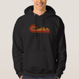 Retro Style Milwaukee Wisconsin Skyline Hoodie