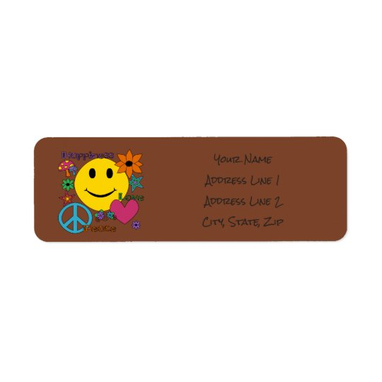 Retro Style - Personalize Return Address Label