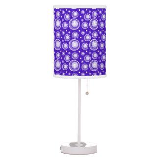 Retro Style Purple Polka Dots Table Lamp