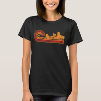 Retro Style Raleigh North Carolina Skyline Distres T-Shirt
