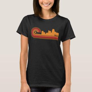 Retro Style Raleigh North Carolina Skyline T-Shirt