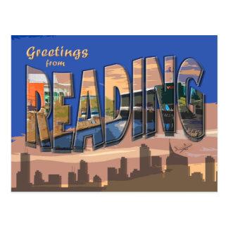 Retro Style Reading  Postcard