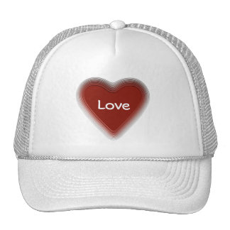 Retro style red heart hat