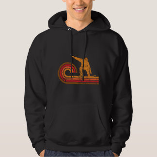 Retro Style Snowboarder Silhouette Snowboarding Hoodie