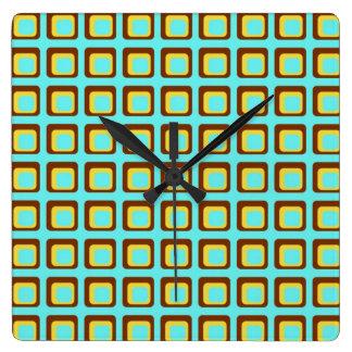 Retro Style Squares Wall Clock