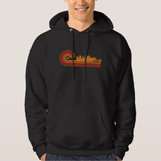 Retro Style Syracuse New York Skyline Hoodie