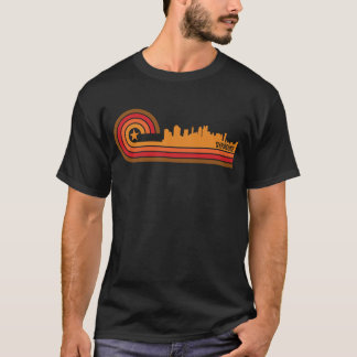 Retro Style Syracuse New York Skyline T-Shirt
