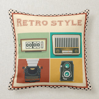 retro style throw pillow