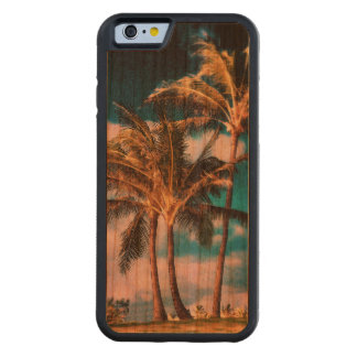 Retro Style Tropical Island Palm Trees Cherry iPhone 6 Bumper Case
