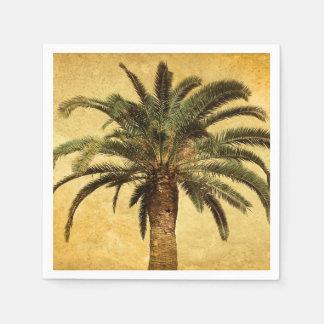 Retro Style Tropical Island vintage Palm Tree Disposable Napkins
