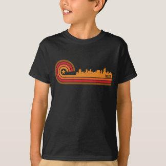 Retro Style Tulsa Oklahoma Skyline T-Shirt
