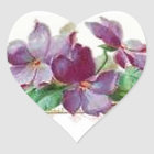 Retro Style Vintage Inspired Colourful Violets Heart Sticker
