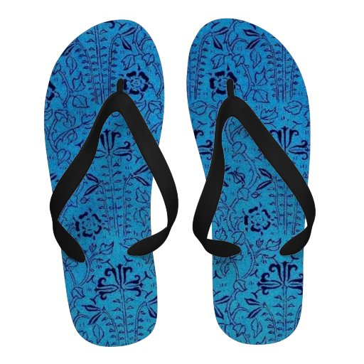 Retro Style Vintage Sapphire Blue Sandals