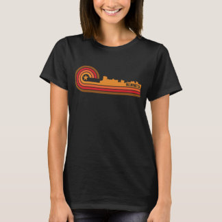 Retro Style Wilmington North Carolina Skyline T-Shirt