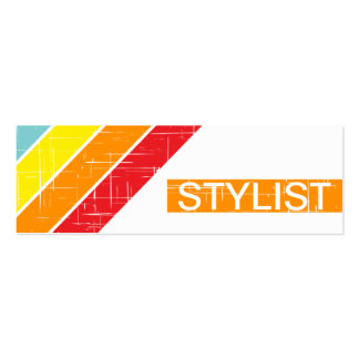 retro STYLIST Pack Of Skinny Business Cards