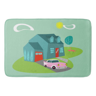 Retro Suburban House Bath Mat