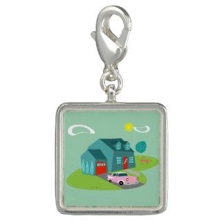 Retro Suburban House Charm Bracelet