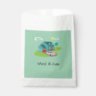 Retro Suburban House Favor Bags