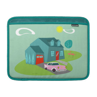 Retro Suburban House MacBook Air Sleeve